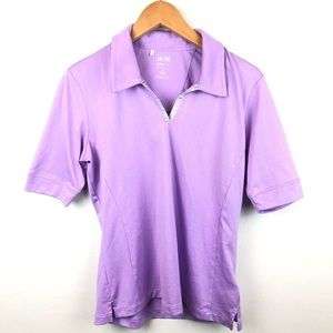 Adidas Golf Lightweight Polo Shirt Lilac Size M